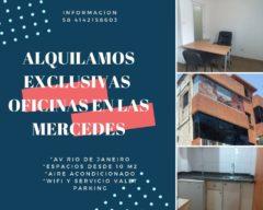 ALQUILO OFICINAS EN LAS MERCEDES, CARACAS