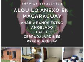 ALQUILO ANEXO EN MACARACUAY, CARACAS